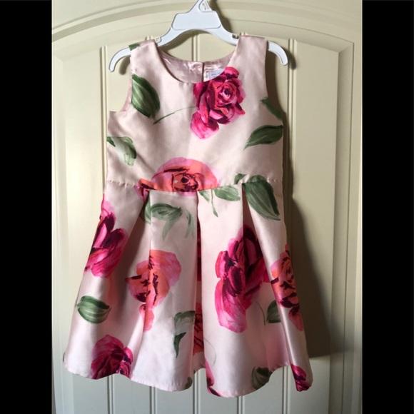 Pink floral dress EUC